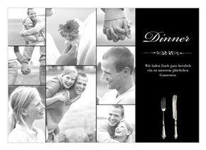 Einladungskarte zum Essen Bernd