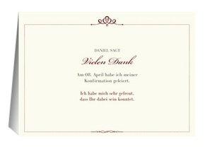 Danksagung Konfirmation Royal