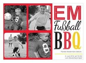 Einladung EM Party BBQ