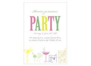 Einladungskarte Party Spaß
