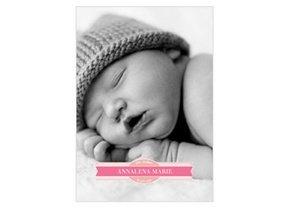 Geburtsanzeige Welcome Pink