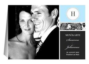 Menükarte Hochzeit Black is Lovely