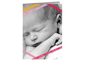 Danksagung Taufe Pink Stipes