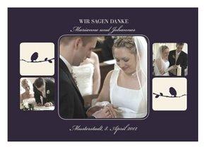 Dankeskarte Hochzeit Violett