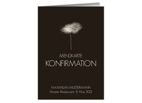 Menükarte Konfirmation Tree Tale