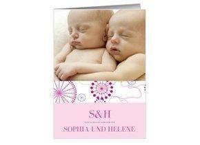 Geburtsanzeige Violetta Zwillinge