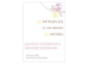 Einladungskarte Hochzeit Flower