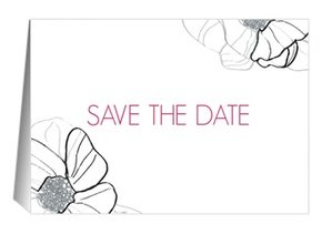 Save the Date Flower Love