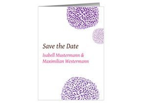 Save the Date Flowers Lila