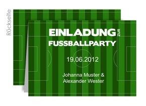 Einladung EM Party Spielfeld