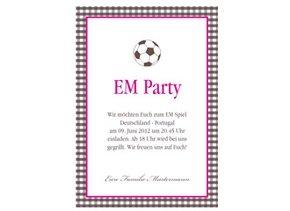Einladung EM Party Birdy