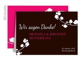 Danksagungskarte Hochzeit Orchidee