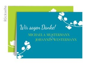 Danksagungskarte Hochzeit Aurelie