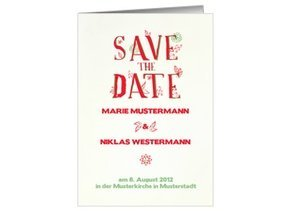 Save the Date Red Love