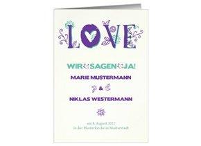 Einladung Hochzeit Lila Love