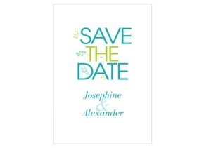 Save the Date Lovely Flower