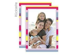 Grußkarte Stripes Pink