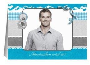 Einladung 40. Geburtstag Winterglück
