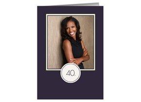 Einladung 40. Geburtstag Lila