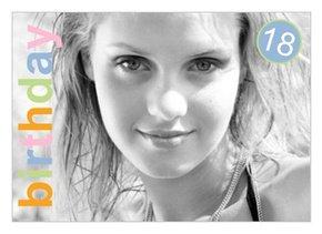Einladungskarte 18. Geburtstag Birthday