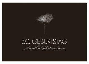 Einladungskarte 50. Geburtstag Tree Tale
