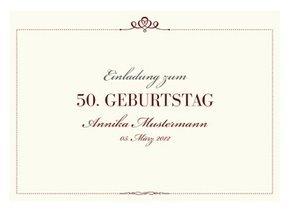 Einladungskarte 50. Geburtstag Royal