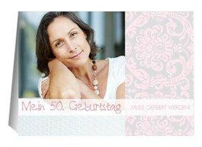 Einladung 50. Geburtstag Freya 1