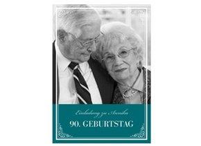 Einladungskarte 90. Geburtstag Leonore