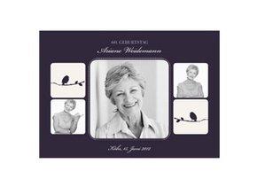 Einladungskarte 60. Geburtstag Violett