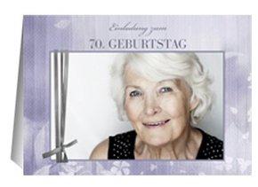 Einladung 70. Geburtstag Liliane