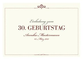 Einladungskarte 30. Geburtstag Royal