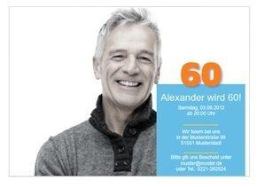 Einladungskarte 60. Geburtstag Alex