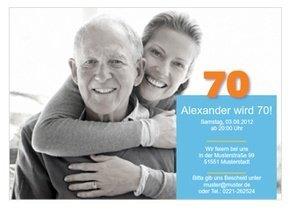 Einladungskarte 70. Geburtstag Alex