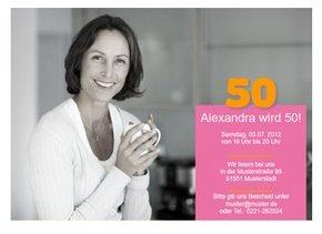 Einladungskarte 50. Geburtstag Alexa