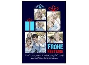 Weihnachtskarte Geschenkpäckchen 2