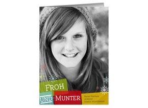 Weihnachtskarte Froh & Munter