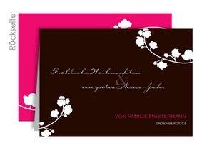 Weihnachtskarte Flowery Love