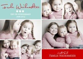 Weihnachtskarte Fröhliche Weihnachten  1