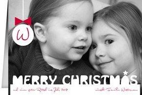 Weihnachtskarte Merry Christmas 1