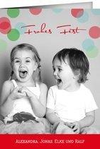 Weihnachtskarte Big Bubbles