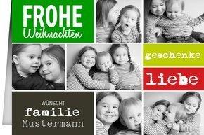 Weihnachtskarte Familie Liebe Geschenke