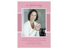 Einladungskarte 40. Geburtstag Luisa