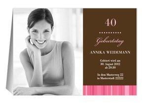 Einladung 40. Geburtstag Chica