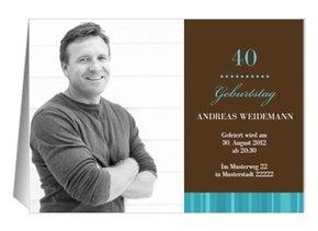 Einladung 40. Geburtstag Chico
