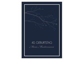 Einladungskarte 40. Geburtstag William