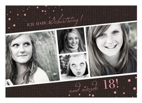 Einladungskarte 18. Geburtstag Brynn 1