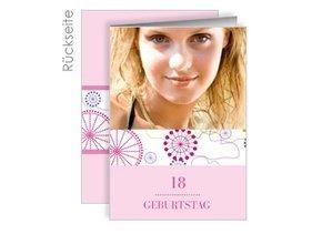 Einladung 18. Geburtstag Violetta