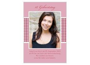 Einladungskarte 18. Geburtstag Luisa