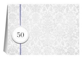 Einladung 50. Geburtstag Lila Grey