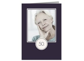 Einladung 50. Geburtstag Lila